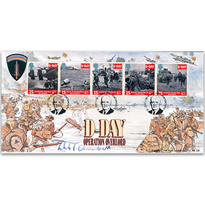 1994 D-Day 50th LFDC - Signed by Winston Churchill (WWII PM's Grandson)