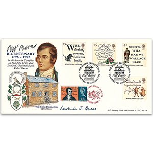 1996 Robert Burns LFDC - Burns Federation Official - Signed Lavinia J. Drew