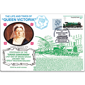 1992 LTQV - Centenary of the Gauge Conversion - Swindon handstamp