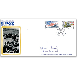 1994 D-Day 50th Anniversary - Signed by Rear Admiral Edward Gueritz