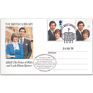 2006 Royal Engagement 25th Anniversary British Library Postcard