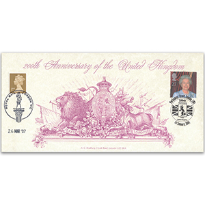 2001 200th Anniversary United Kingdom doubled