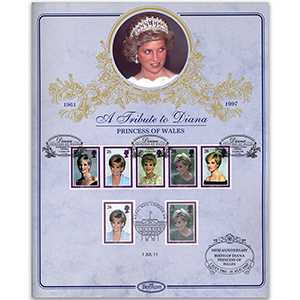 1998 Princess Diana Tribute Card - Doubled 2011