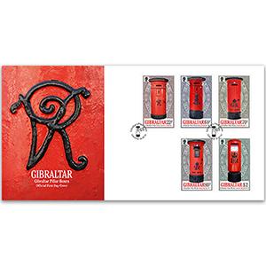 Gibraltar Pillar Boxes 5v FDC 10/10/16