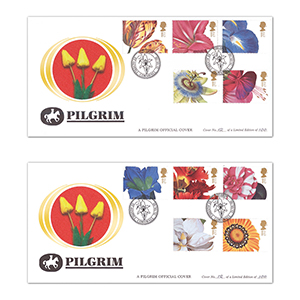 2003 Pilgrim Flowers Pair of Covers