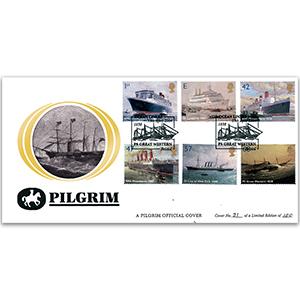 2004 Ocean Liners Pilgrim Covers - Bristol
