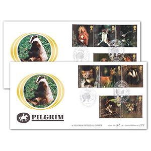 2004 Woodland Animals Pilgrim Cover Pair - Badger, Burnhill Green
