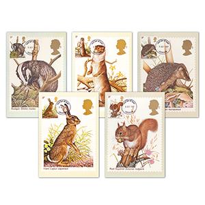 1977 British Wildlife PHQ Cards - Set of 5