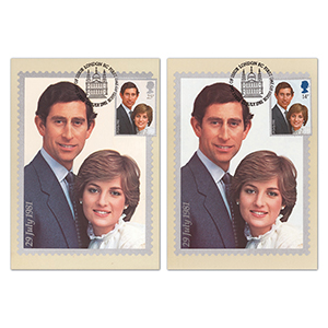1981 Royal Wedding PHQ Cards - Set of 2