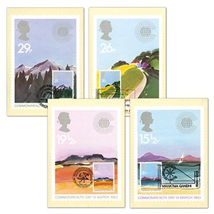 1983 Commonwealth Day PHQ Cards - Set of 4