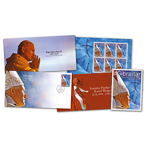 2005 Gibraltar Stamps - Pope John Paul II Commemorative Set