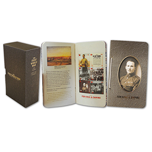 New Zealand - First World War - King & Empire M/S Book and Commemorative Case