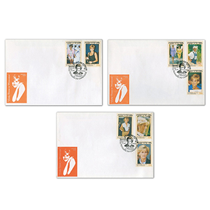 1997 Cambodia - Princess Diana - Set of 3