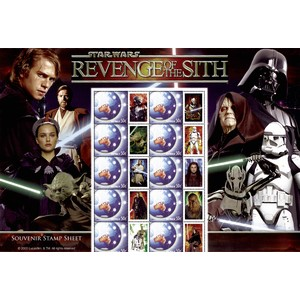 Star Wars - Revenge of the Sith 2005 - Souvenir Stamp Sheet