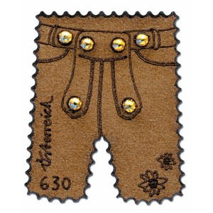 Austria Lederhosen Leather stamp