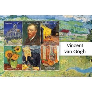 Grenada Van Gogh 6v Shlt