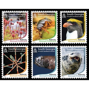 *****South Georgia Biodiversity 6v issued 2015
