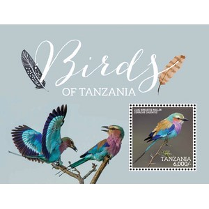 Birds of Tanzania 2015 - Miniature Sheet - Tanzania
