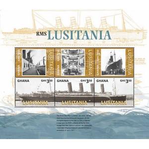 WW1 Lusitania Sheetlet - Ghana