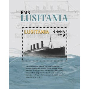 Ghana WW1 Lusitania 1v M/S