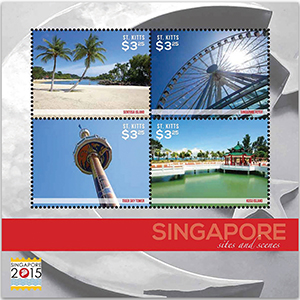 Singapore Stamp Exhibition 2015 - Sheetlet - St. Kitts