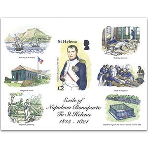 St.Helena Exile of Napoleon 1815 -1821 M/S 2016