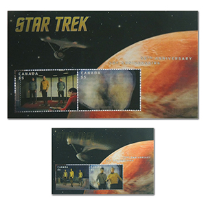 Star Trek Lenticular 2016 - Miniature Sheet - Canada