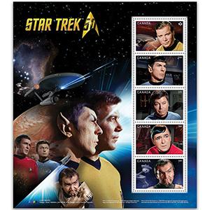 Canada Star Trek 2016 - Sheetlet - Canada