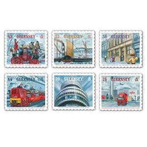 Guernsey 500yrs Postal History 6v 27/7/16