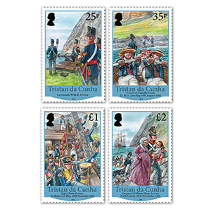 Tristan Bicentenary of the British Garrison 1816 - 2016 4v 14/8/16