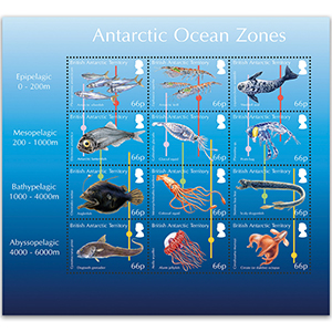 B.A.T Antarctic Ocean Zones 12v Sheetlet Nov 2016