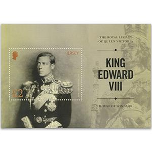 Royal Legacy of Victory King Edward VIII 2017 - Miniature Sheet - Jersey