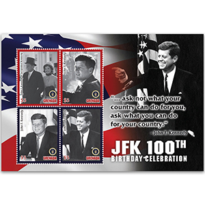 Grenada JFK 100th B'day Celebration 4v Shlt 7/2/17