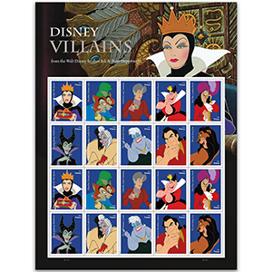 Disney Villains 2017 - Sheet - USA