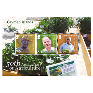 2017 Cayman Islands 50th Ann.Agriculture 3v M/S