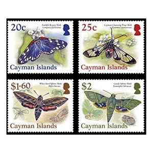 2017 Cayman Islands Moths 4v