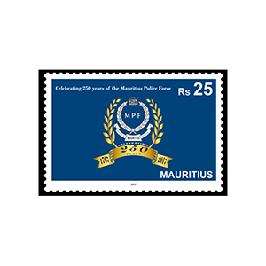 2017 Mauritius 250yrs Mauritius Police Force RS25 1v