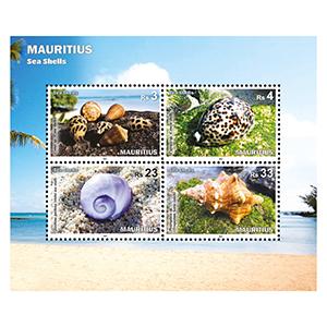 2017 Mauritius Sea Shells 4v M/S
