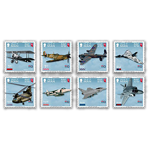 2018 IOM RAF 100th Set 8v Stamps