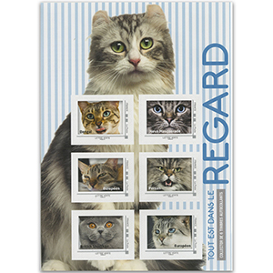 2017 France The look of Cats 6v Sheet (Blue)
