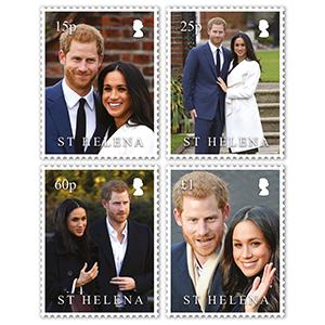 2018 St Helena Royal Wedding 4v Set