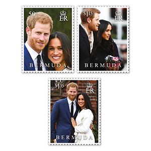 2018 Bermuda Royal Wedding 3v set