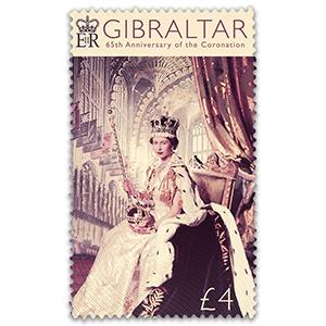 Gibraltar 65th Coronation 1v Stamp