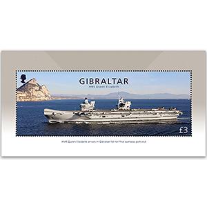 Gibraltar HMS Queen Elizabeth 1v Stamp