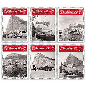 Gibraltar RAF 100th 6v 18/5/18