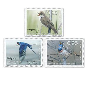 ***2018 Luxembourg Birdpex Rare Birds 3v Set