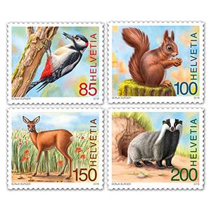 2018 Switzerland Animals of the Forest 4v Set