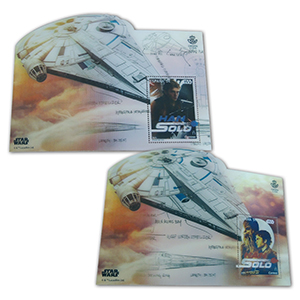 2018 Spain Star Wars Han Solo Lenticular M/S