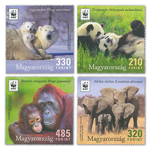2018 Hungary WWF Endangered Animals 4v