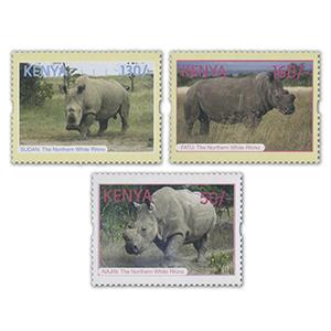 ****2018 Kenya Northern White Rhino's 3v